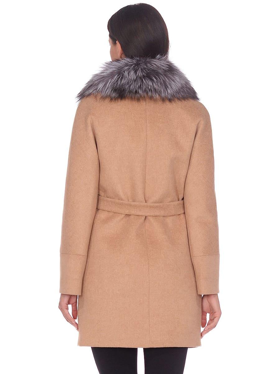 Женское зимнее пальто hr-1022 бежевое фото-3