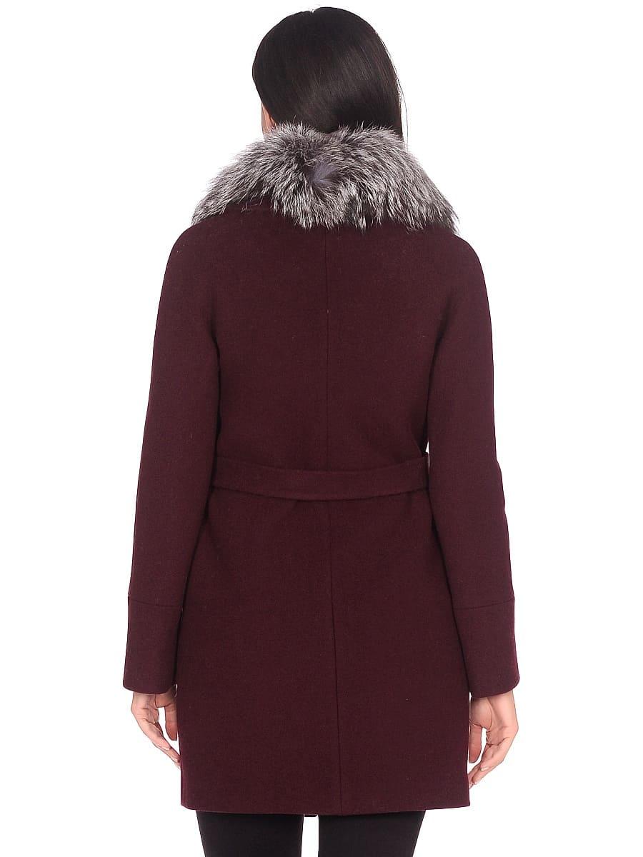Женское зимнее пальто hr-1022 бордовое фото-3