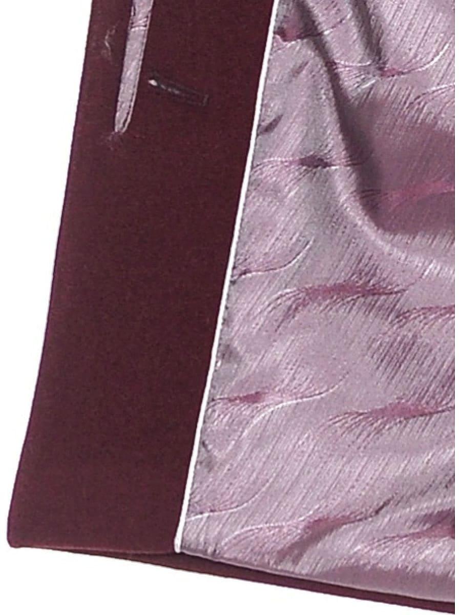 Женское зимнее пальто hr-1022 бордовое фото-4