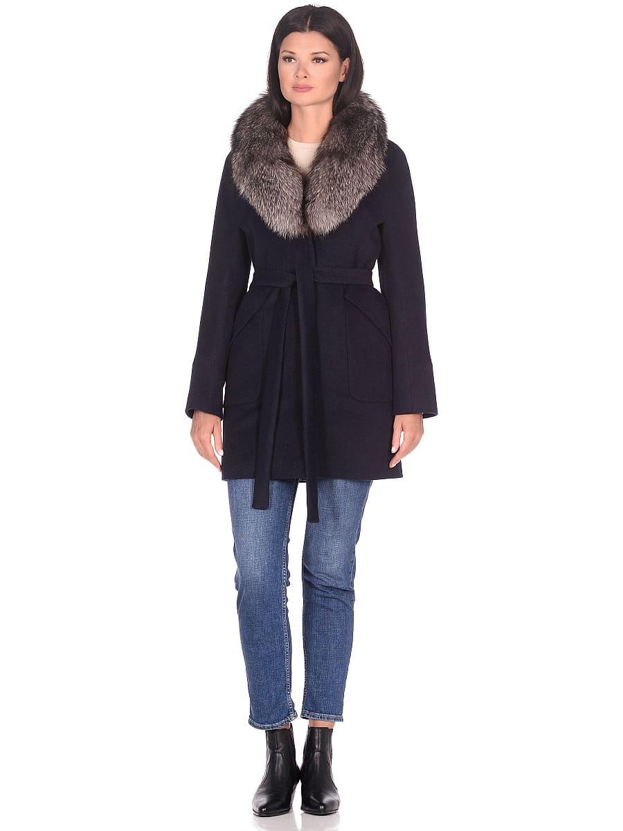 Женское зимнее пальто hr-1022 синее фото-1