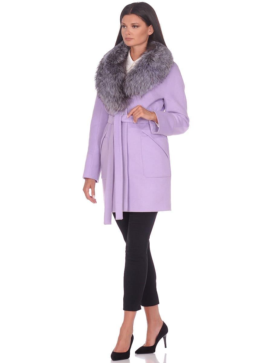 Женское зимнее пальто hr-1022 сиреневое фото-1