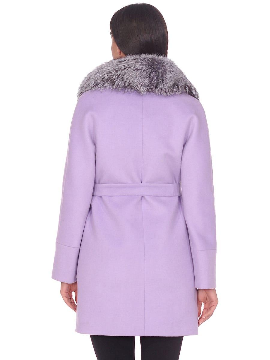 Женское зимнее пальто hr-1022 сиреневое фото-2