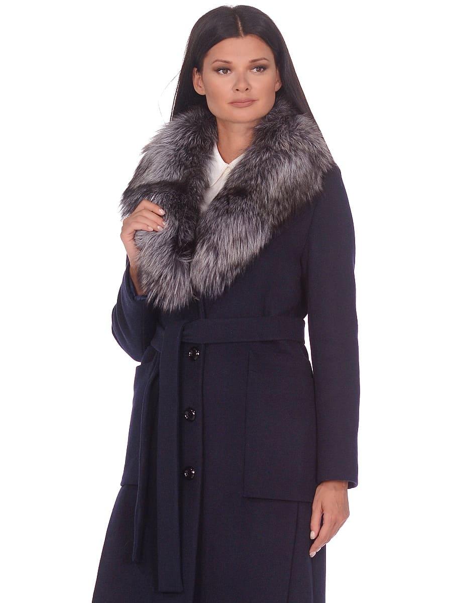 Женское зимнее пальто hr-1024 синее фото-2