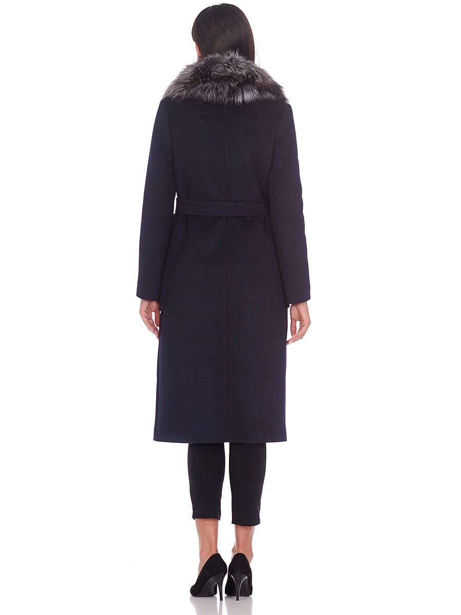 Женское зимнее пальто hr-1024 синее фото-3