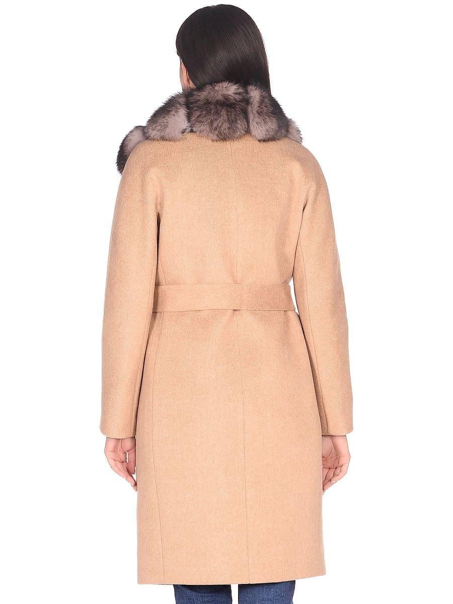 Женское зимнее пальто hr-1025 бежевое фото-3