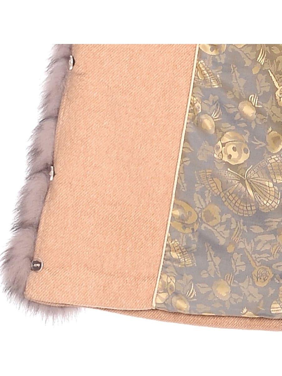 Женское зимнее пальто hr-1025 бежевое фото-4