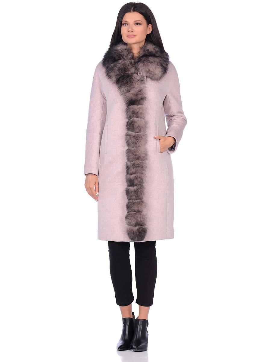 Женское зимнее пальто hr-1025 бледно-розовое фото-1