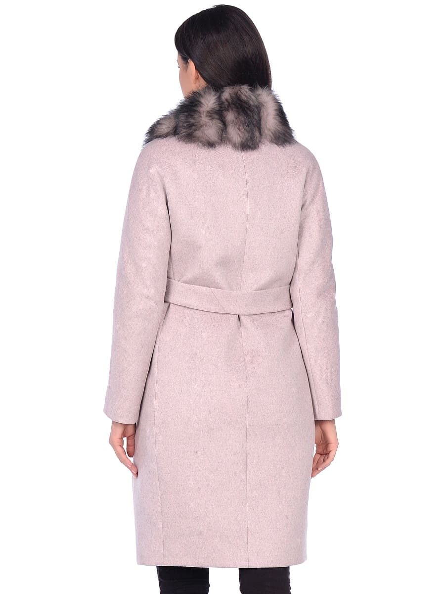 Женское зимнее пальто hr-1025 бледно-розовое фото-3