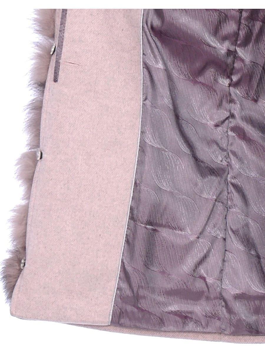 Женское зимнее пальто hr-1025 бледно-розовое фото-4
