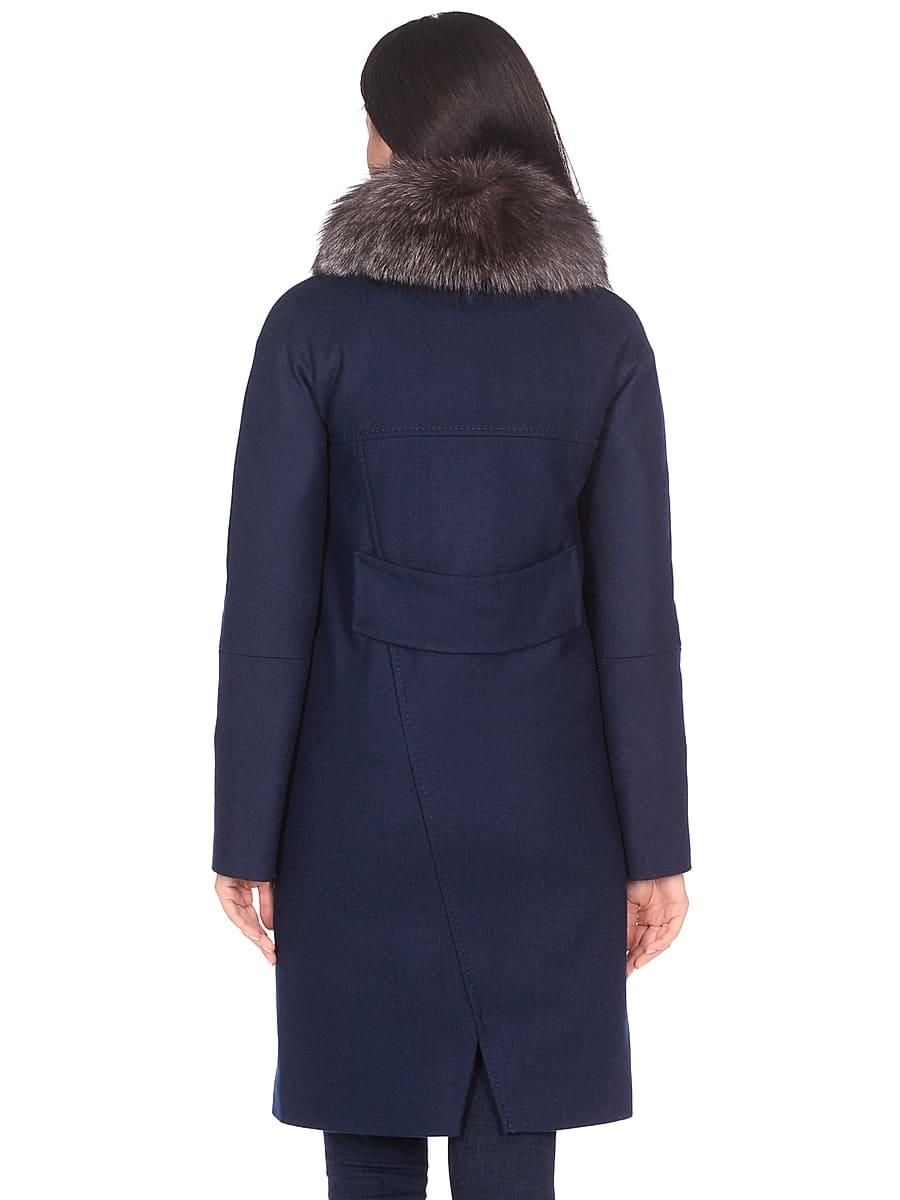Женское зимнее пальто hr-1026 синее фото-3