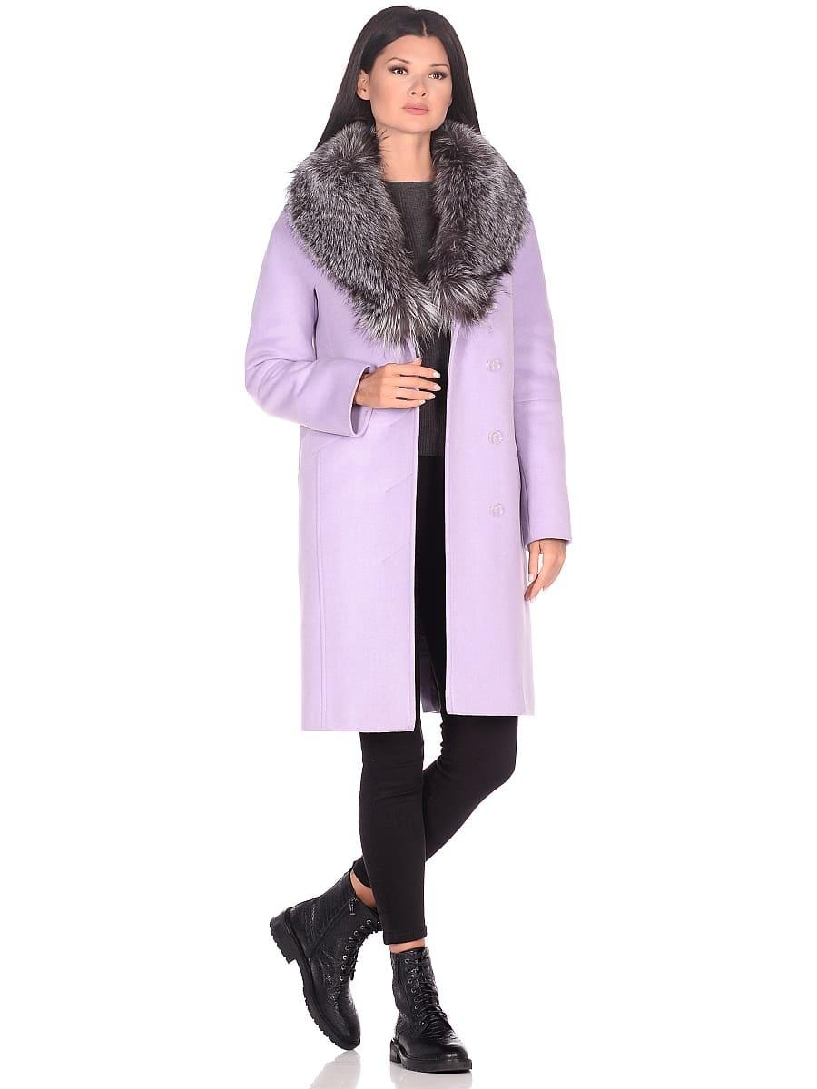 Женское зимнее пальто hr-1026 сиреневое фото-1