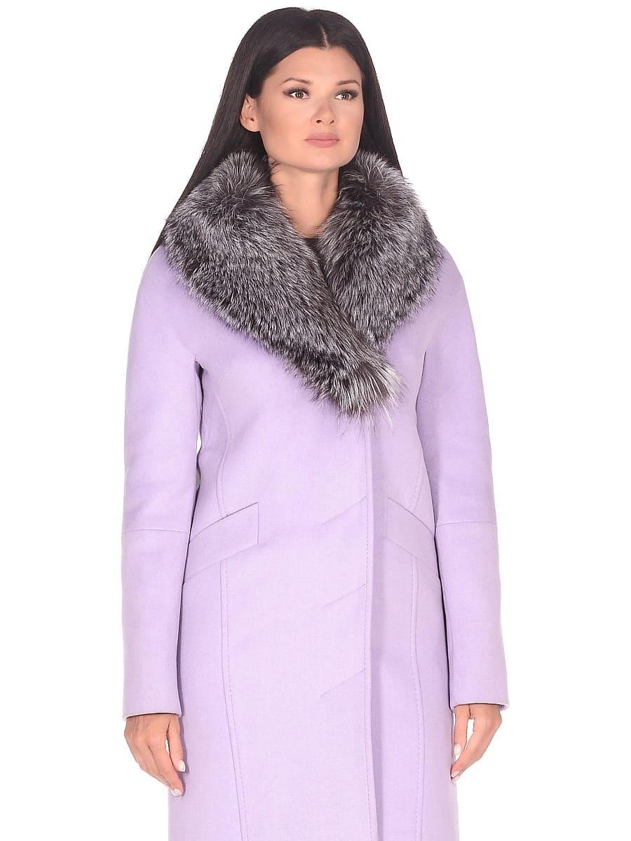 Женское зимнее пальто hr-1026 сиреневое фото-2