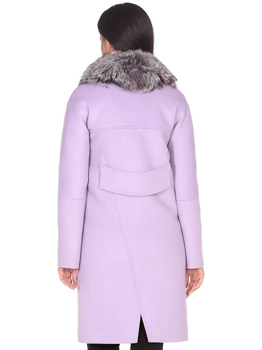 Женское зимнее пальто hr-1026 сиреневое фото-3
