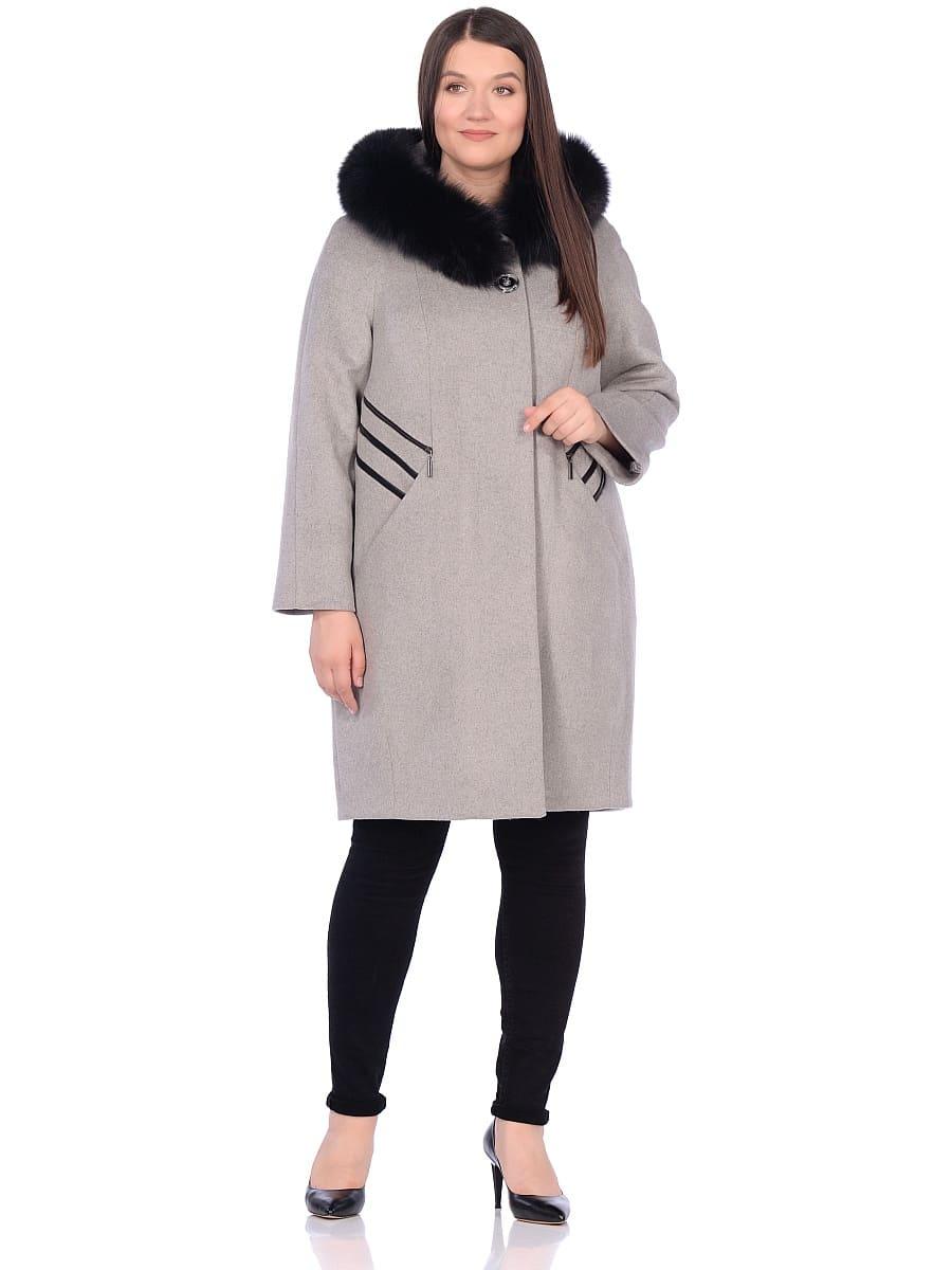 Женское зимнее пальто hr-1019 темно-серое фото-1