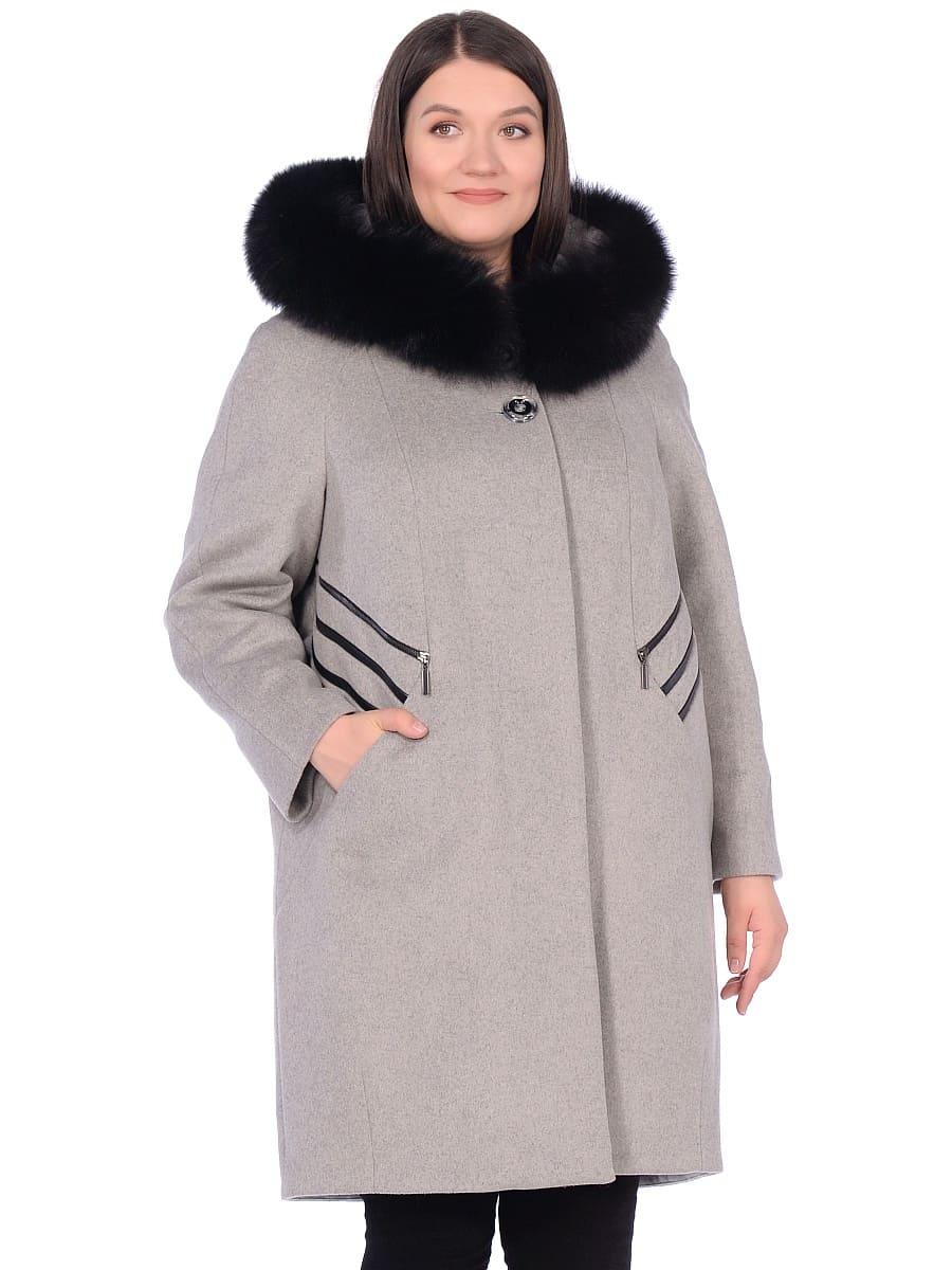 Женское зимнее пальто hr-1019 темно-серое фото-2