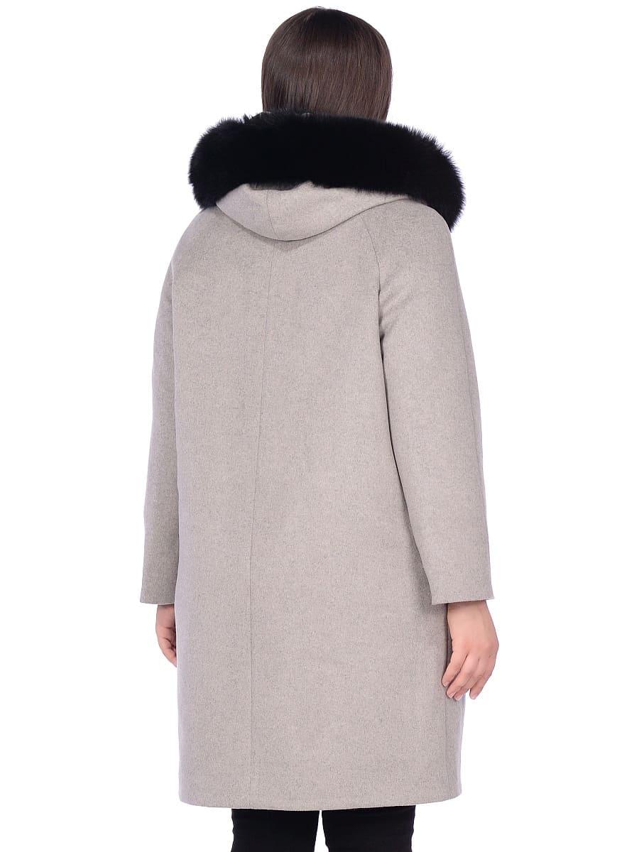 Женское зимнее пальто hr-1019 темно-серое фото-3