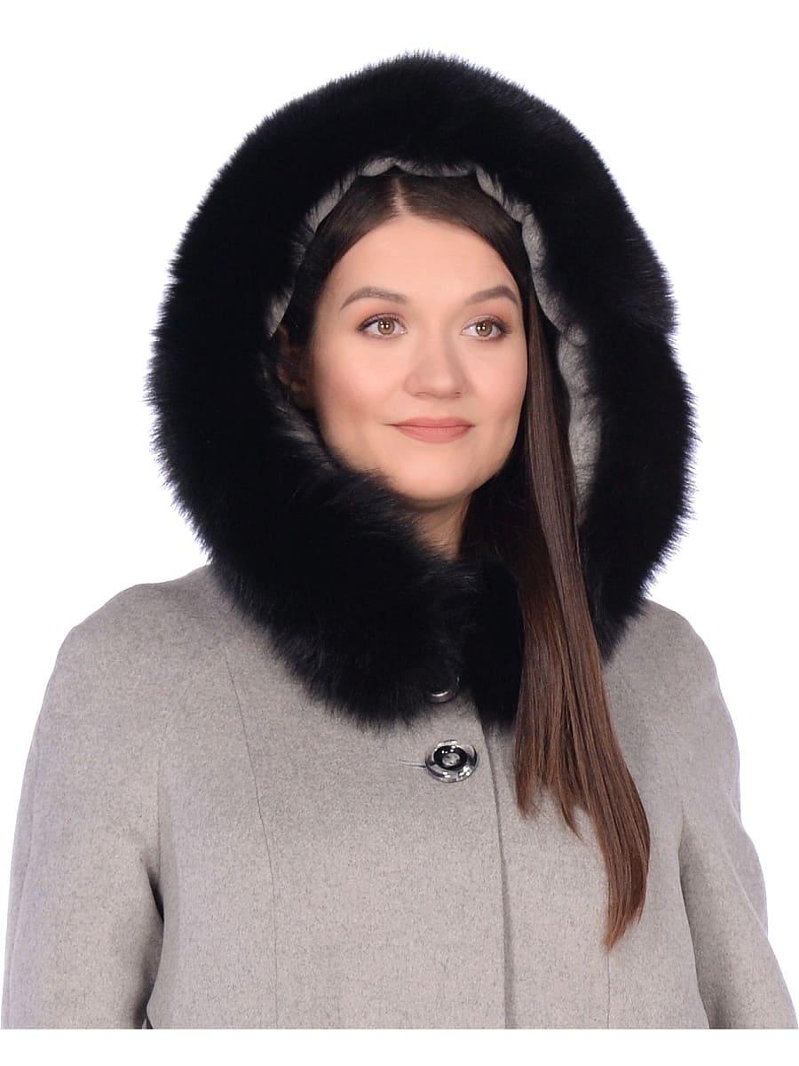 Женское зимнее пальто hr-1019 темно-серое фото-4