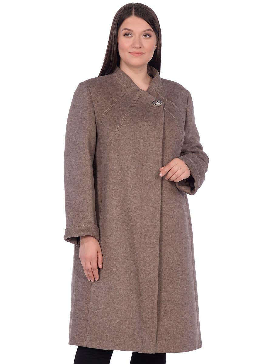 Женское зимнее пальто hr-1007 бежевое фото-2
