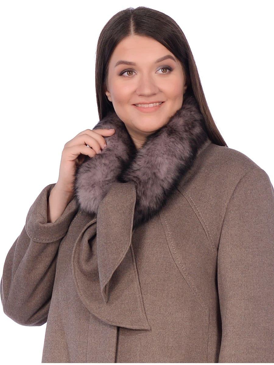 Женское зимнее пальто hr-1007 бежевое фото-4