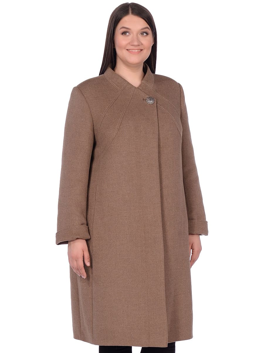 Женское зимнее пальто hr-1007 песочное фото-2