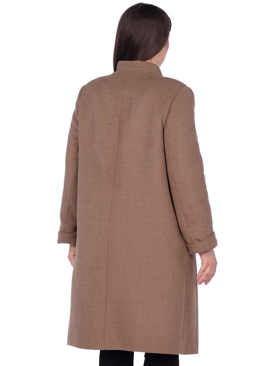 Женское зимнее пальто hr-1007 песочное фото-3