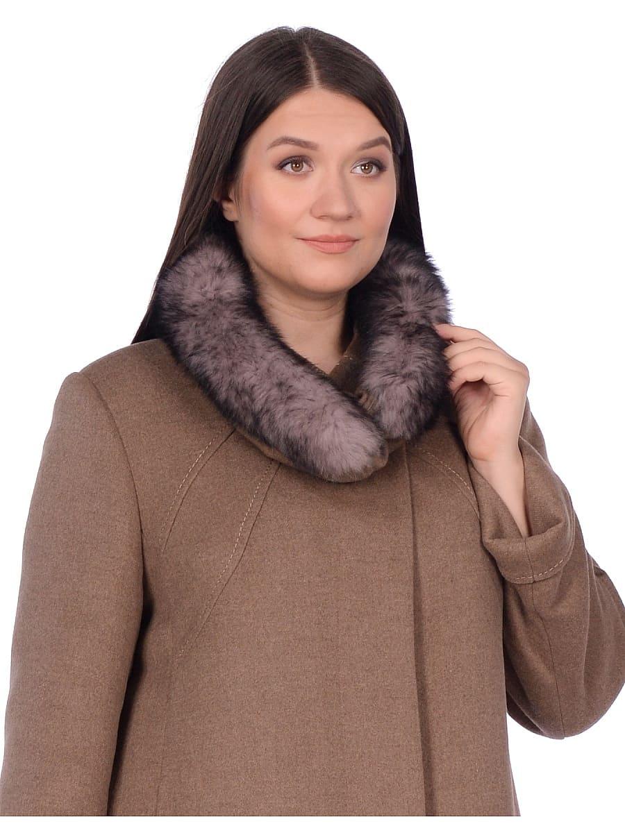 Женское зимнее пальто hr-1007 песочное фото-4