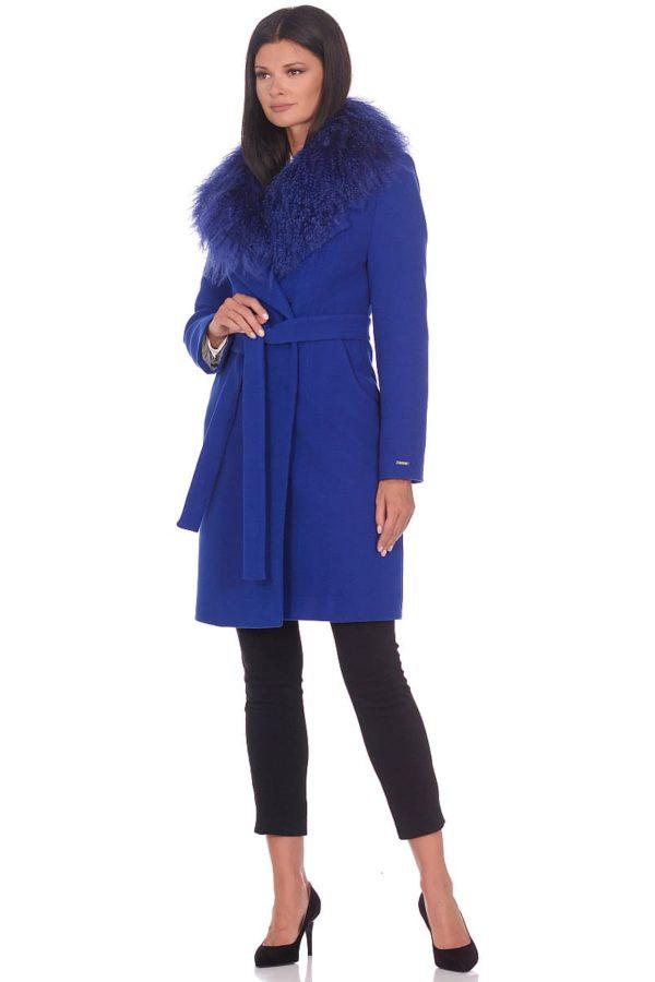 Женское зимнее пальто hr-1009 васильковое-фото-1