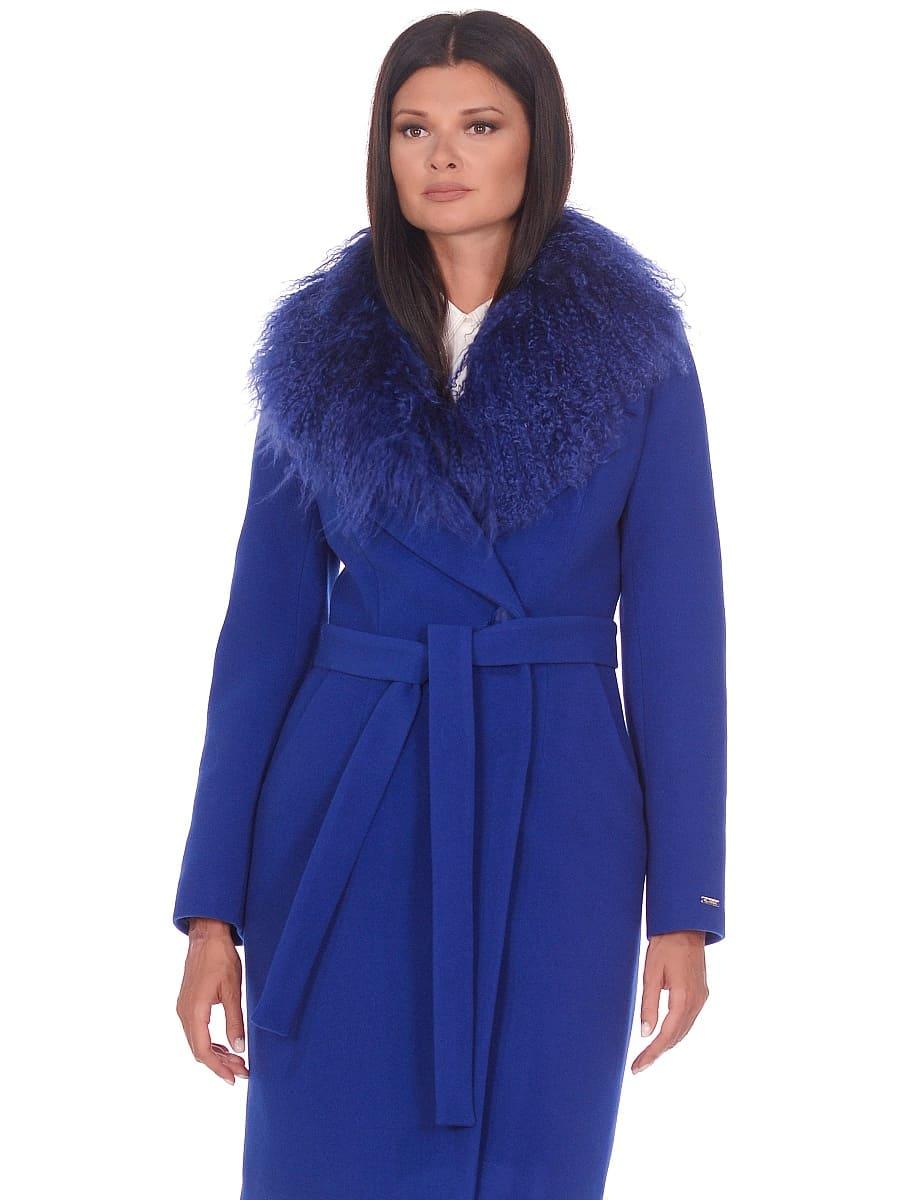 Женское зимнее пальто hr-1009 васильковое-фото-2