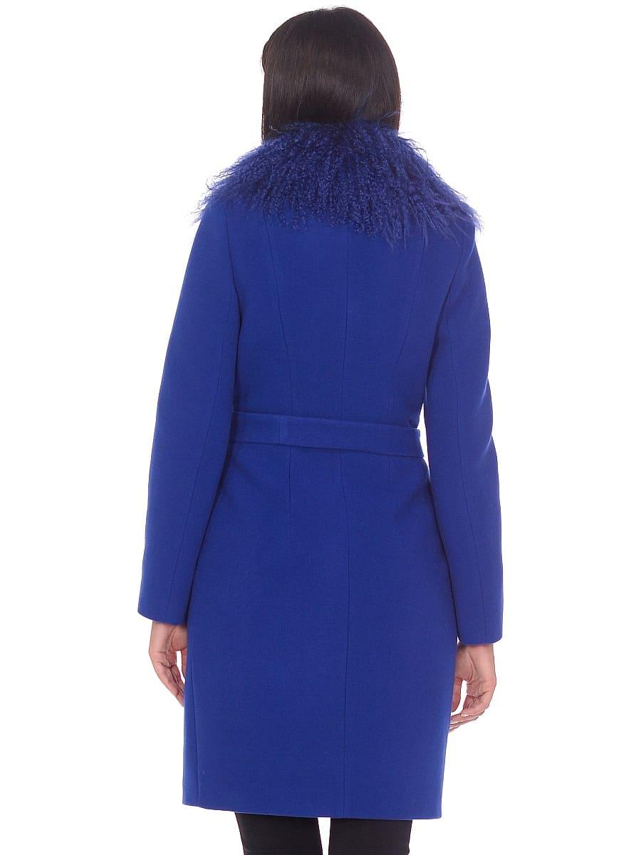 Женское зимнее пальто hr-1009 васильковое-фото-3