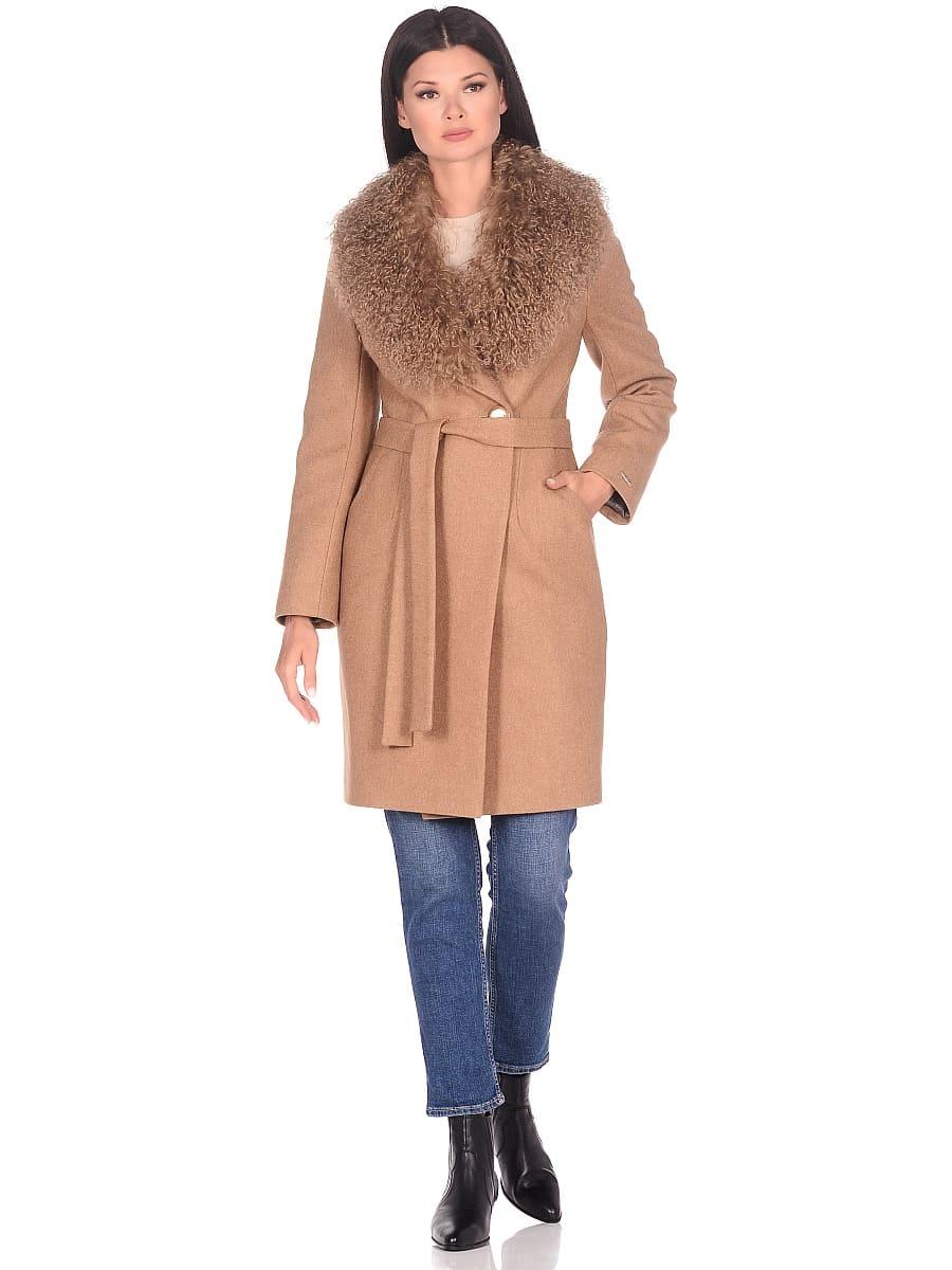 Женское зимнее пальто hr-1009 песочное-фото-1