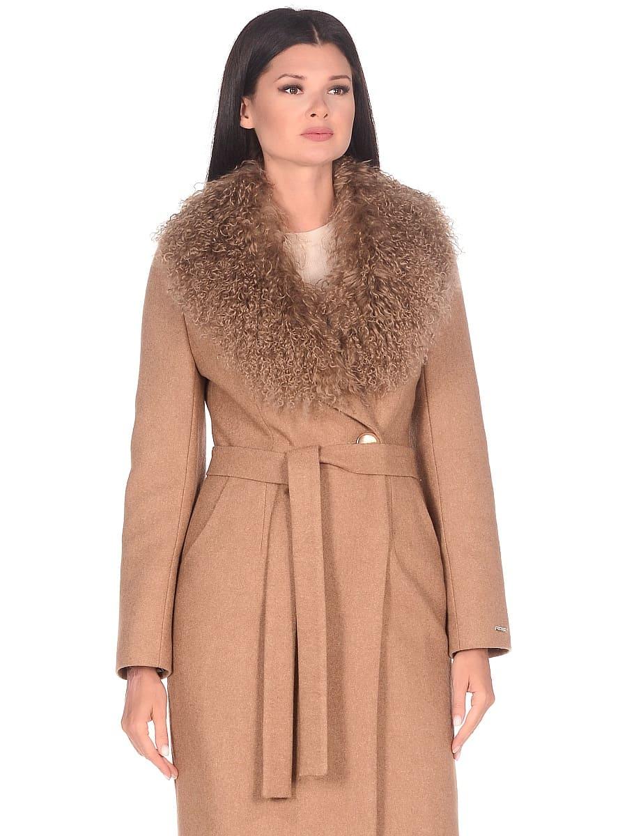 Женское зимнее пальто hr-1009 песочное-фото-2