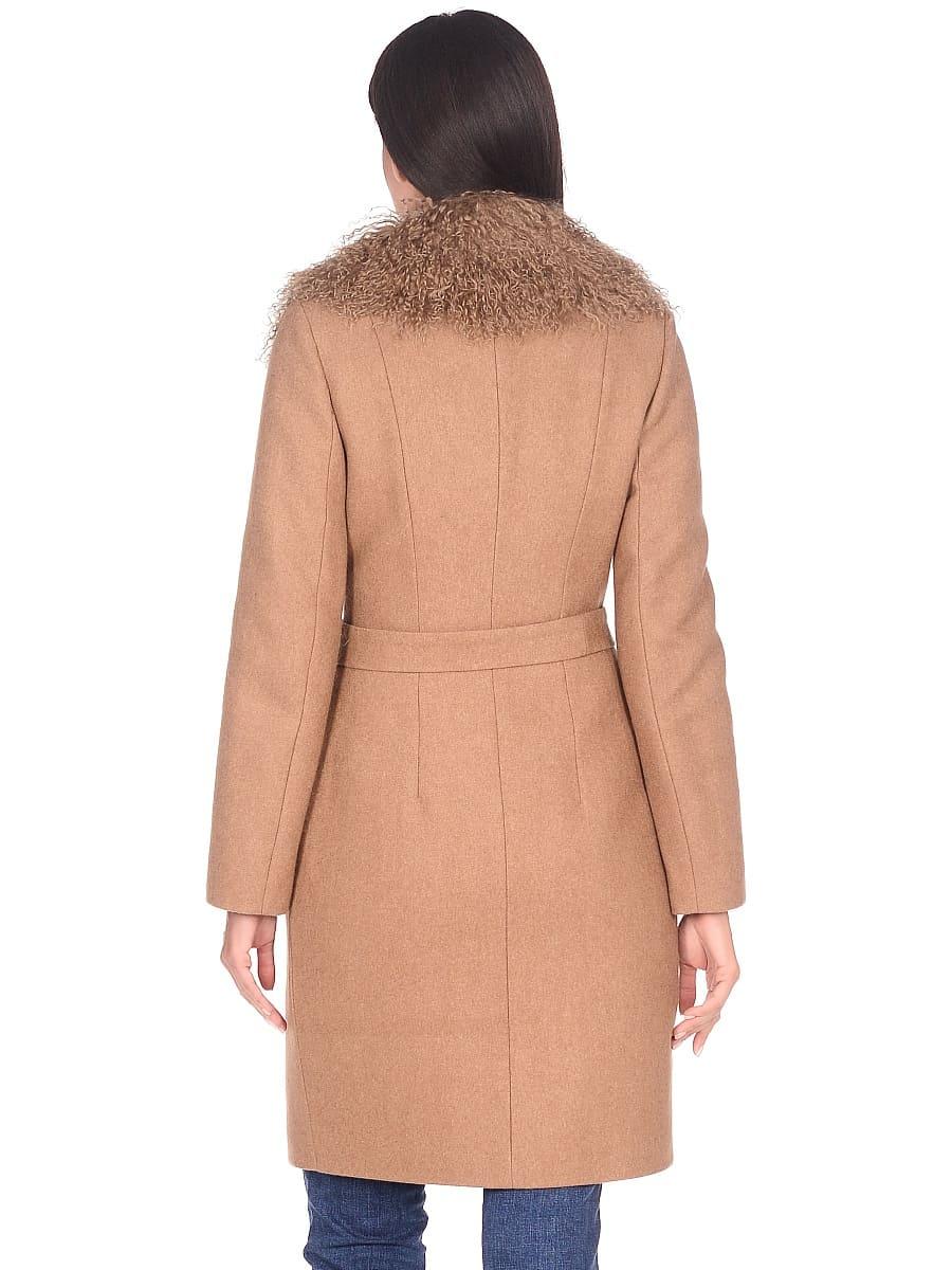 Женское зимнее пальто hr-1009 песочное-фото-3