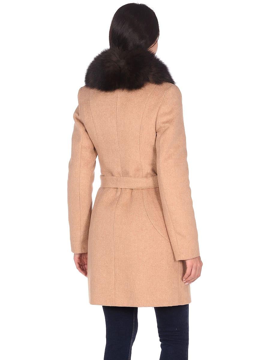 Женское зимнее пальто hr-1011 песочное фото-3