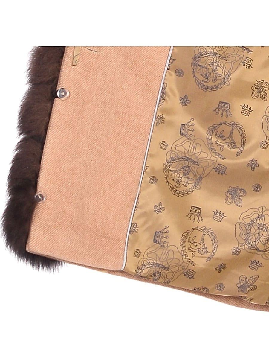 Женское зимнее пальто hr-1011 песочное фото-4