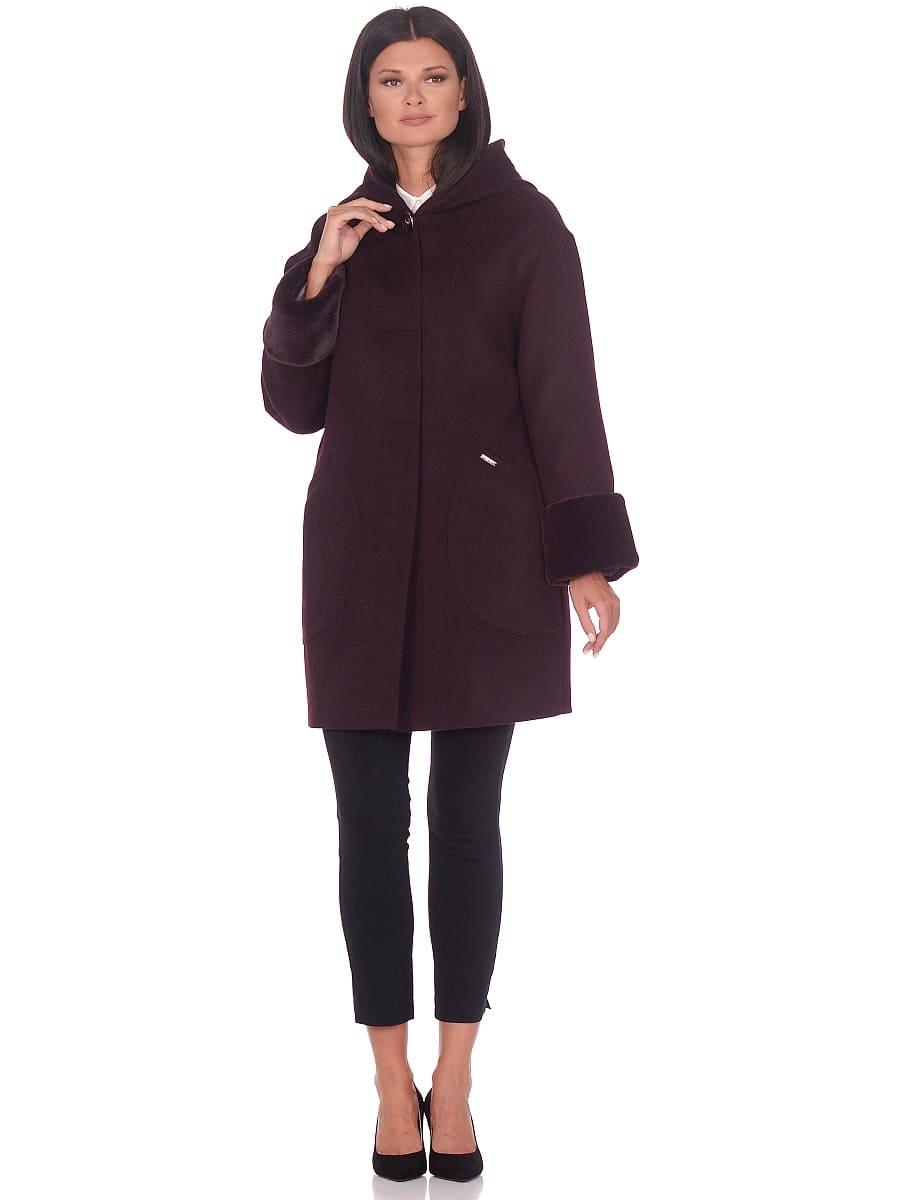 Женское зимнее пальто hr-1012 темно-пурпурное фото-1