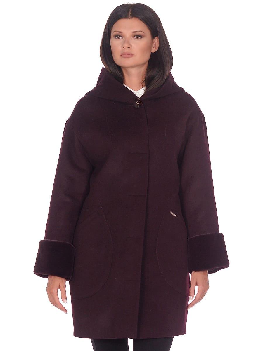 Женское зимнее пальто hr-1012 темно-пурпурное фото-2