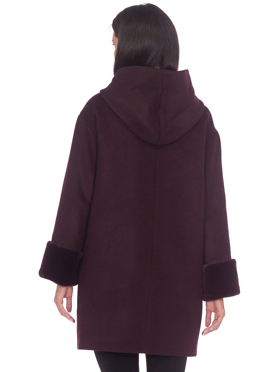 Женское зимнее пальто hr-1012 темно-пурпурное фото-3