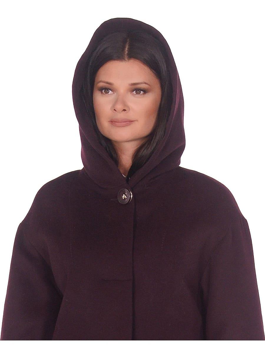 Женское зимнее пальто hr-1012 темно-пурпурное фото-4