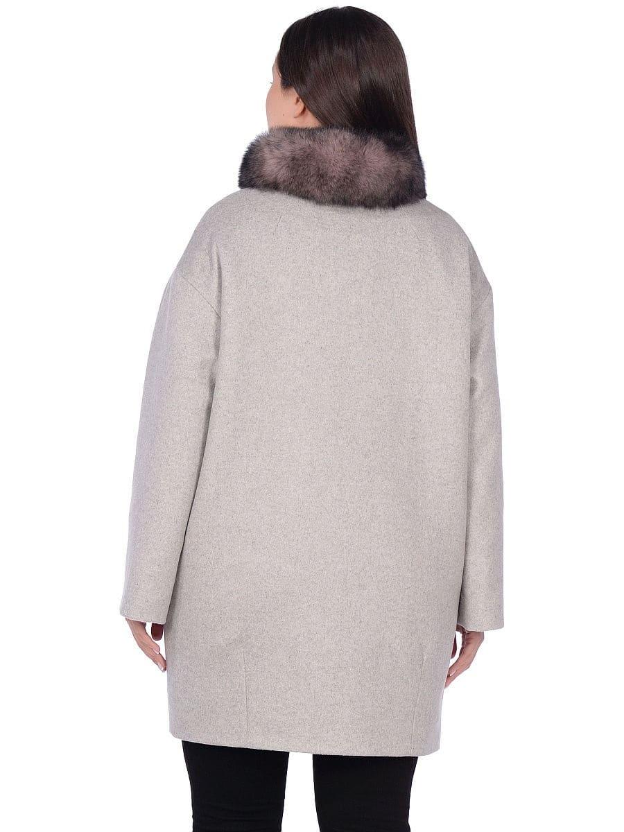 Женское зимнее пальто hr-1014 светло-серое фото-3
