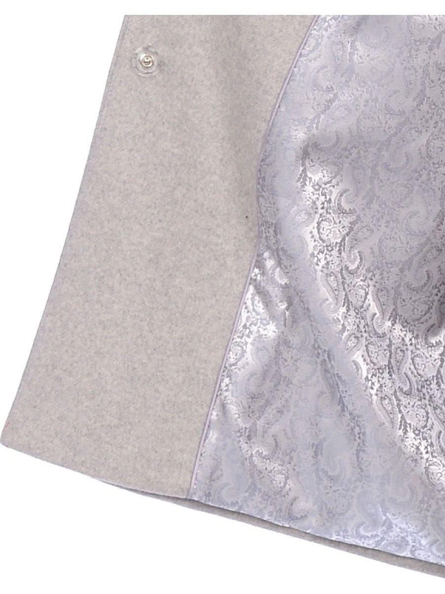 Женское зимнее пальто hr-1014 светло-серое фото-4