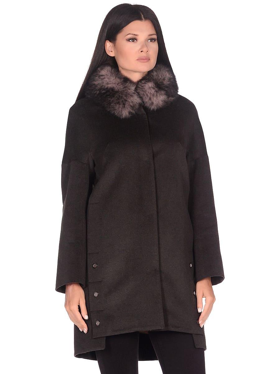 Женское зимнее пальто hr-1016 хаки фото-2