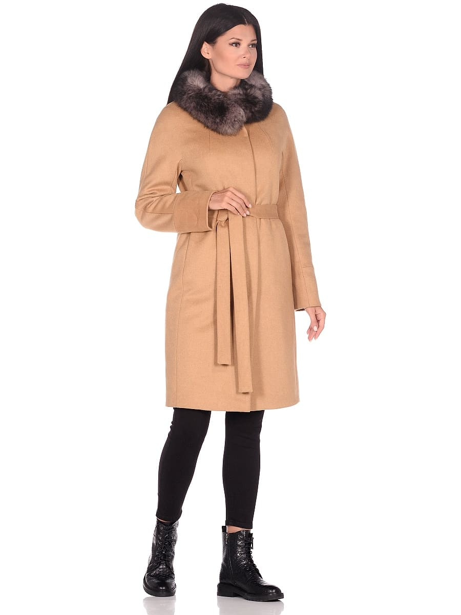 Женское зимнее пальто hr-1018 горчичное фото-1