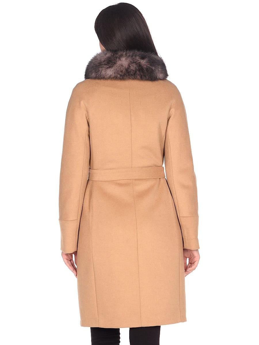 Женское зимнее пальто hr-1018 горчичное фото-3
