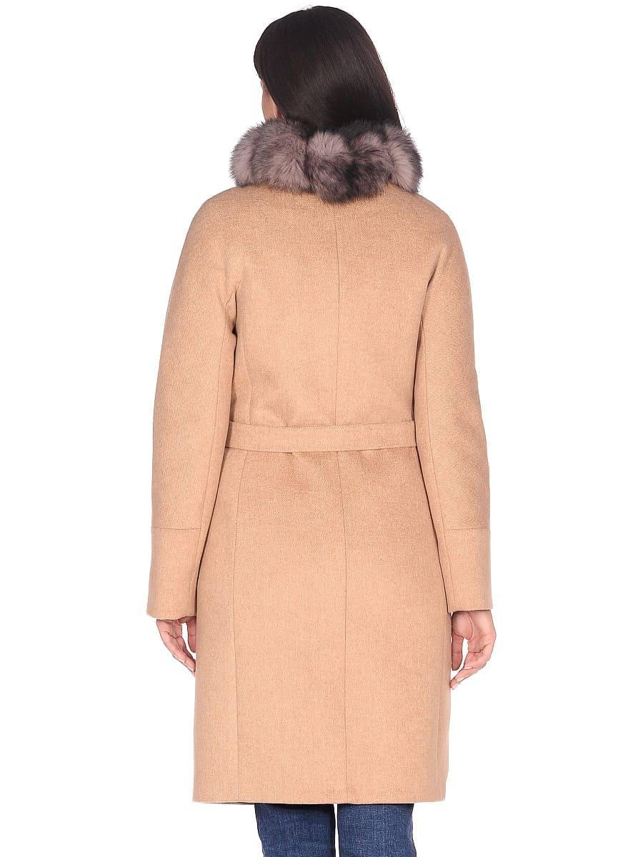 Женское зимнее пальто hr-1018 песочное фото-3
