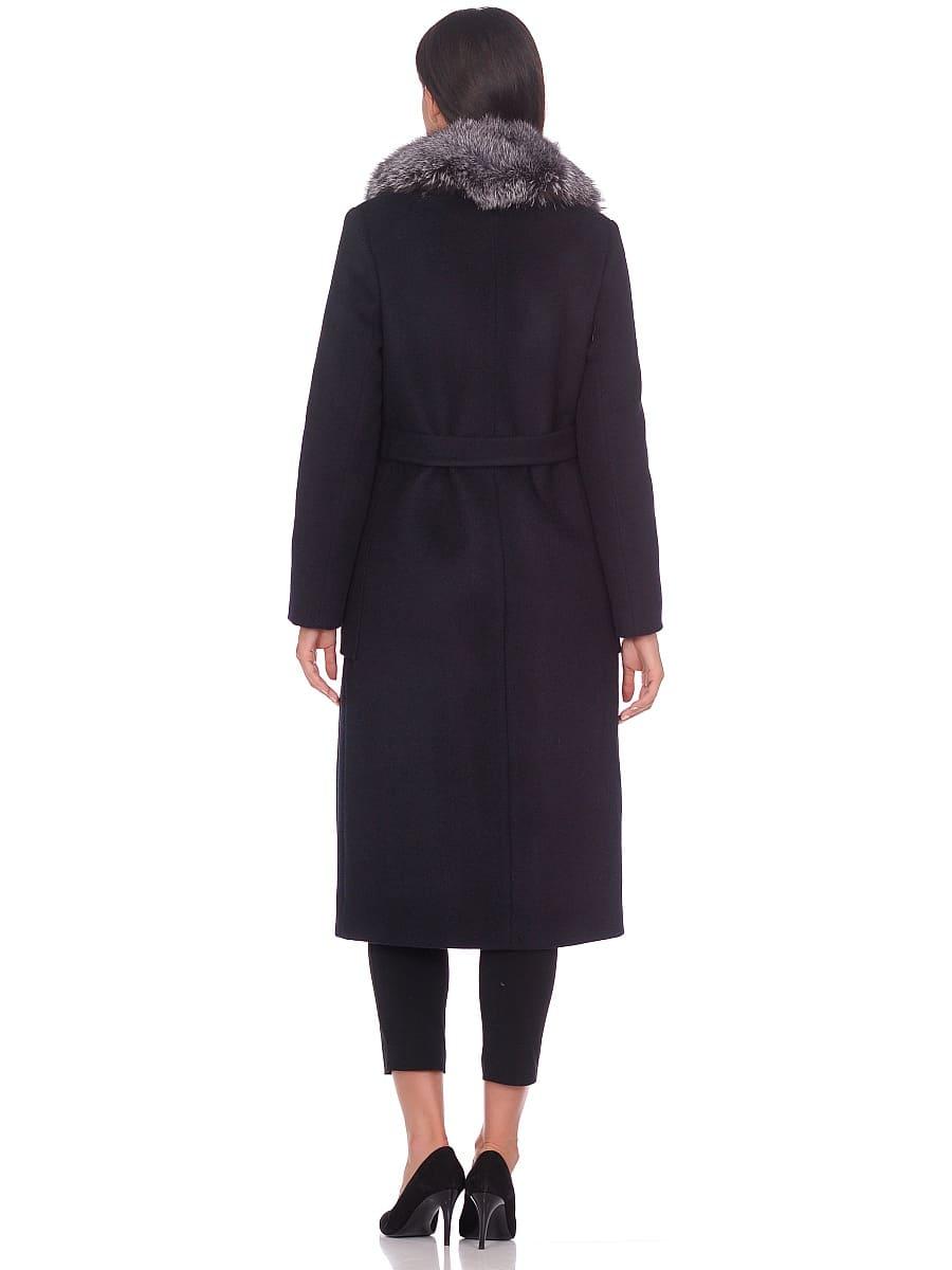 Женское зимнее пальто hr-1024 темно-синее фото-3
