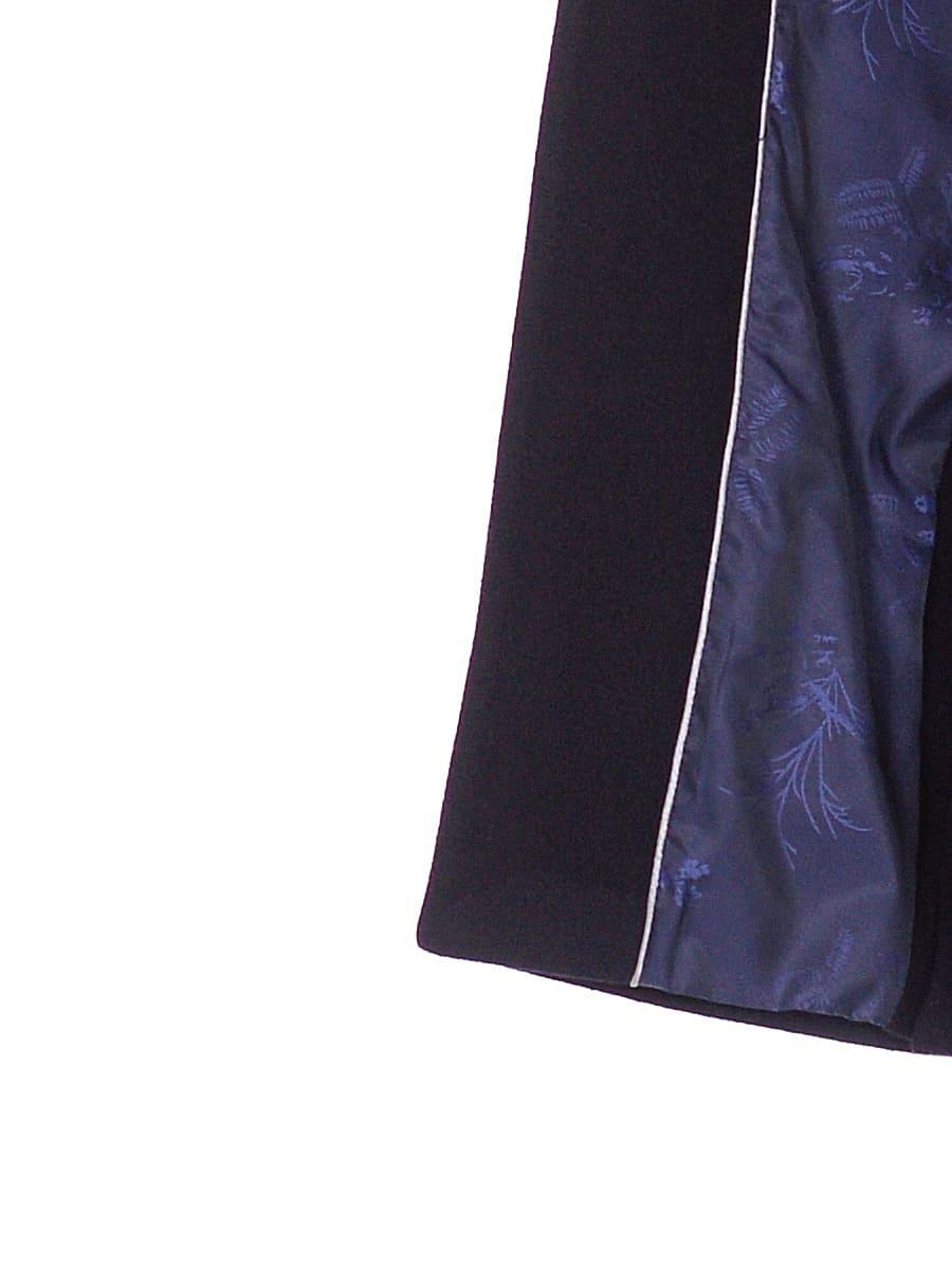 Женское зимнее пальто hr-1024 темно-синее фото-4