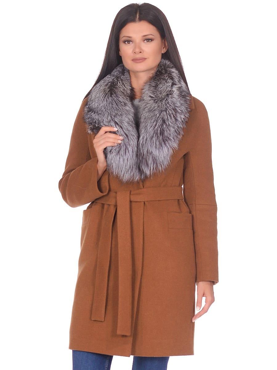 Женское зимнее пальто hr-1021 горчичное фото-2