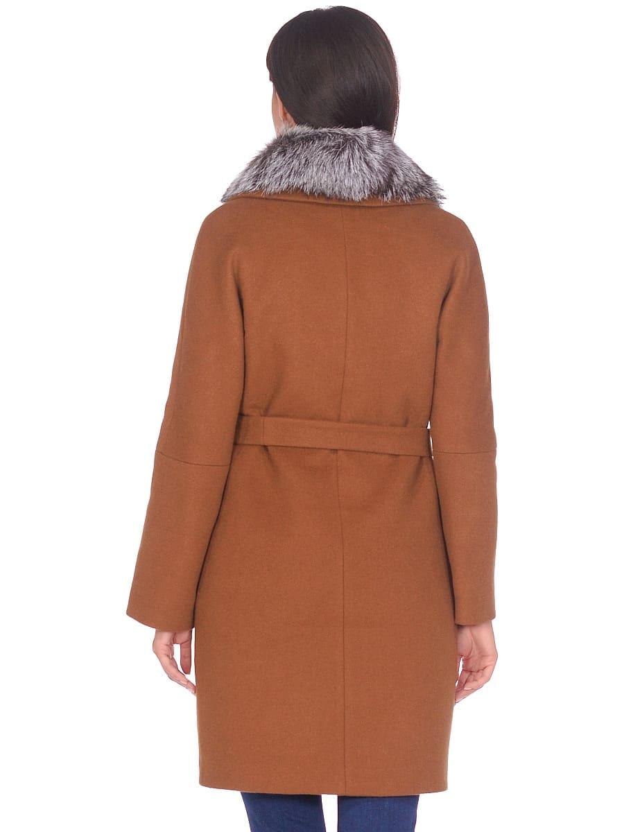 Женское зимнее пальто hr-1021 горчичное фото-3