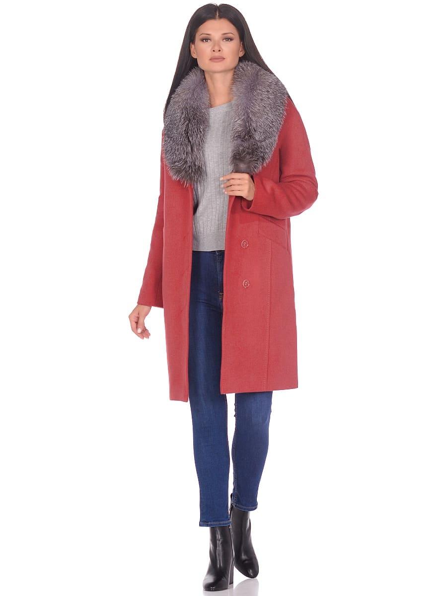 Женское зимнее пальто hr-1026 гранатовое фото-1
