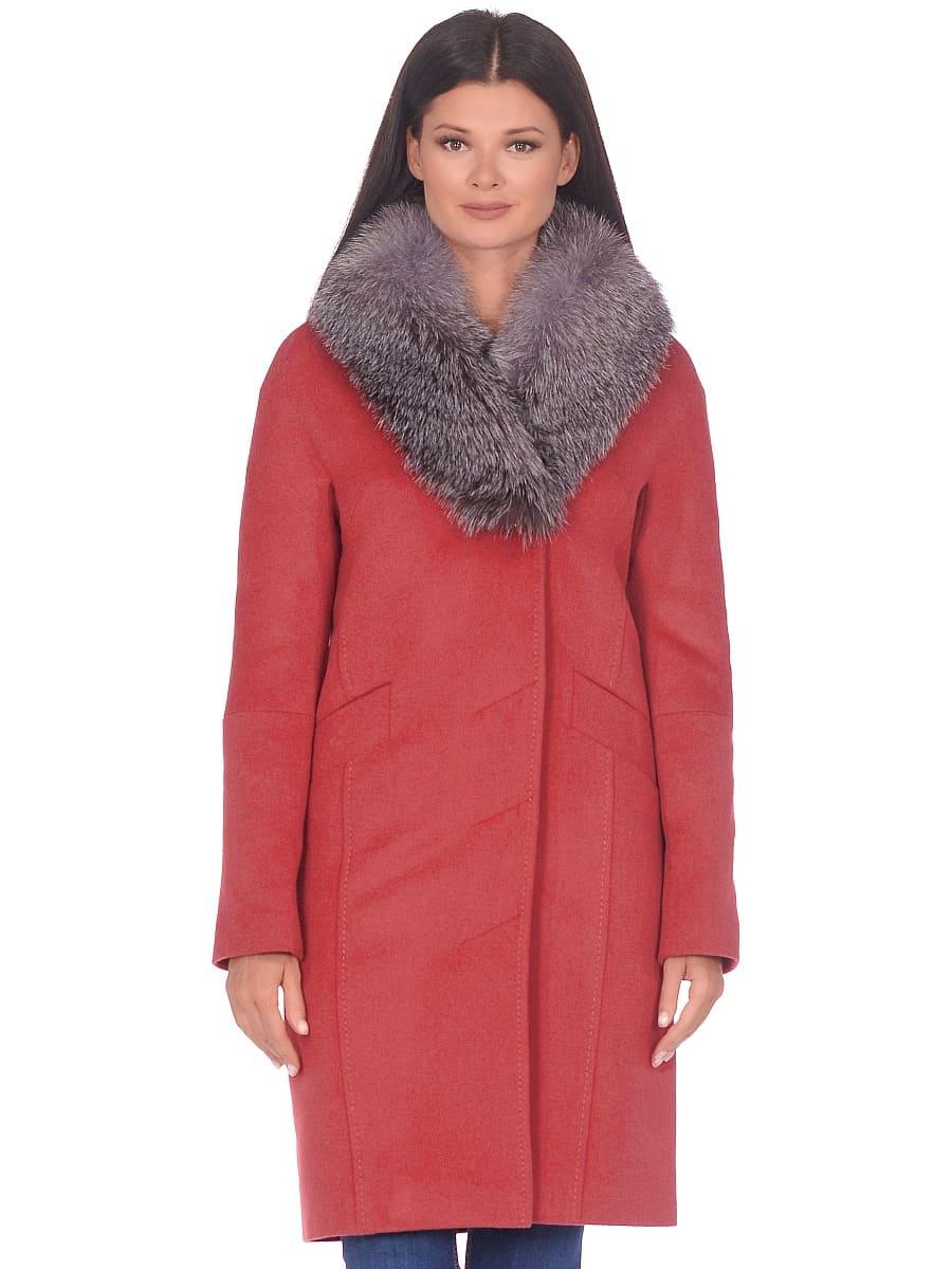 Женское зимнее пальто hr-1026 гранатовое фото-2